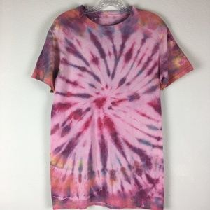 Pink Tie Dyed T-Shirt//Hanes